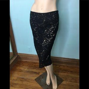 Black laces skirt